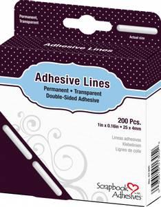 Bilde av Scrapbook Adhesives - Adhesive Glue Lines - 25 x 4 mm - 200stk