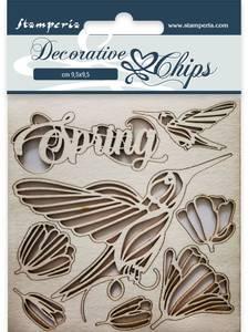Bilde av Stamperia - Chipboard Decorative Chips - 21 - Spring