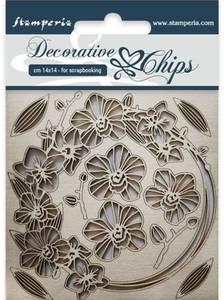 Bilde av Stamperia - Chipboard Decorative Chips - 23 - Garland of Flowers