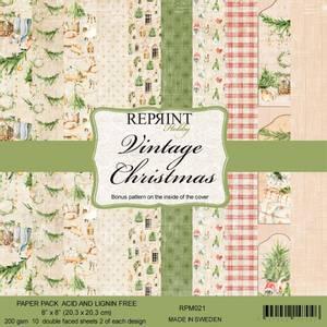 Bilde av Reprint - 8x8 - RPM021 - Vintage Christmas paper pack