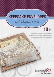 Bilde av Scrapbook Adhesives - Keepsake Envelopes - Ass. str - 10stk