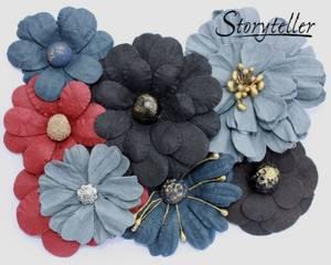 Bilde av Storyteller -  Ass blomster m senter - Blå-rød - 4679