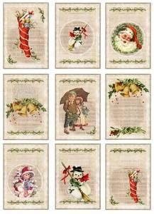 Bilde av Reprint -  A4 Klippeark - KP0055 - Vintage Christmas - Music